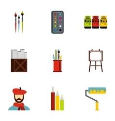 Art icons set flat style vector image