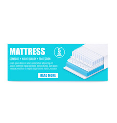 Banner for promotion matress layered with vector