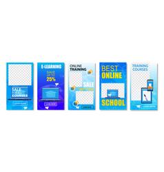 best online school sale for all courses set vector image