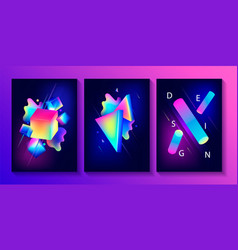 Big set of creative design posters vector