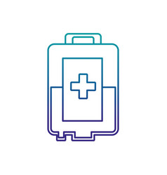 blood bag donation icon vector image