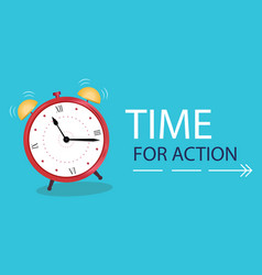 business concept time to action banner alarm vector image