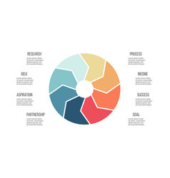 Business infographics pie chart with 8 parts vector