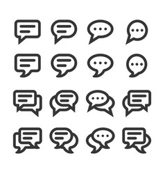 chat speech bubbles and dialog balloons line style vector image