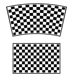 Checkered racing flag elements isolated on white vector