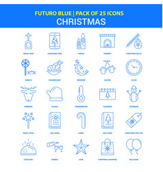 Christmas icons - futuro blue 25 icon pack vector