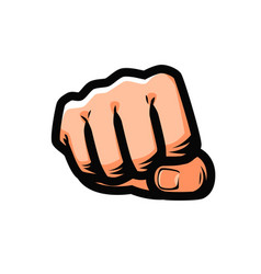 clenched fist punching from front vector image