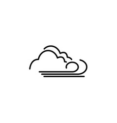 cloudy and the wind icon black on white background vector image
