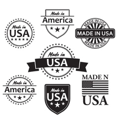 Collection of made in the USA labels vector image