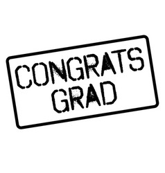 Congrats grad stamp on white vector