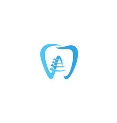 creative tooth screw logo design symbol vector image