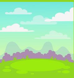 cute cartoon nature landscape square background vector image