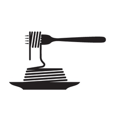 Dish pasta vector