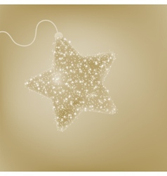 Elegant Christmas star postcard EPS 8 vector