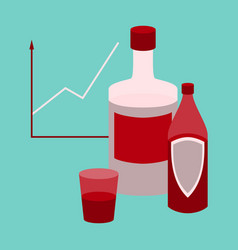 flat icon on stylish background alcohol vector image