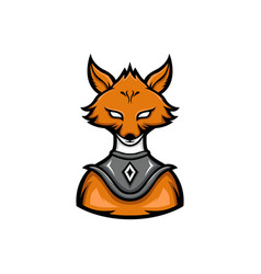fox warrior sport mascot logo vector image