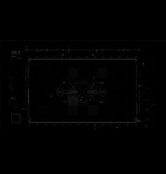futuristic user interface design element video vector image