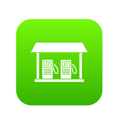 gas station icon digital green vector image