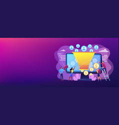 Generating new leads concept banner header vector