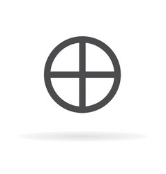 global sphere icon earth symbol1 vector image