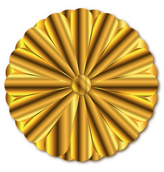 Golden imperial seal of japan vector