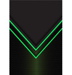 Green arrow light direction hexagon mesh vector