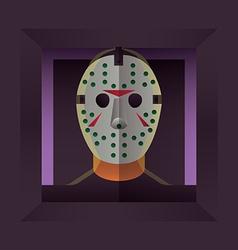 Halloween Character Hockey Mask vector image
