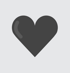 heart icon flat vector image