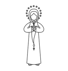 holy virgin mary icon vector image