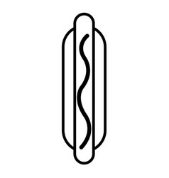 hot dog icon outline line style vector image