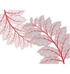 Leaf scene vector