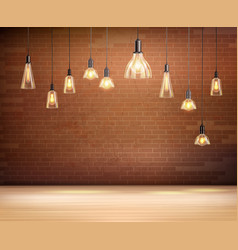 light bulbs background vector image