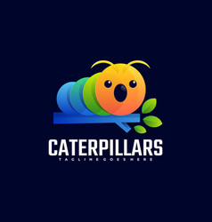 logo caterpillar gradient colorful style vector image