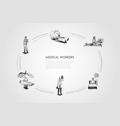 medical workers - doctor and medical workers in vector image