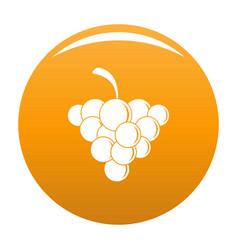 Mellow grape icon orange vector
