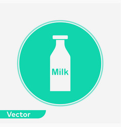 milk bottle icon sign symbol vector image