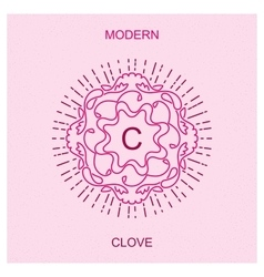 Mono line style minimalistic clove vector