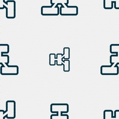 Network icon sign Seamless pattern with geometric vector image