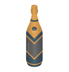 new year champagne bottle icon isometric style vector image