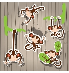 nice cute monkey vector image