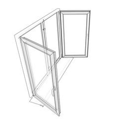 Open windows sketch vector
