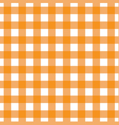 Orange tablecloth pattern design vector