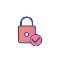 padlock flat icon sign symbol vector image