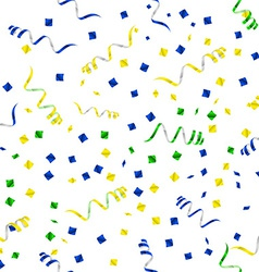 Party streamers seamless pattern vector image