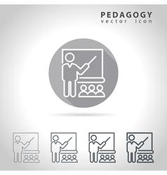 Pedagogy outline icon vector