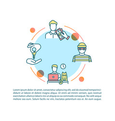 peer economy risks and benefits concept icon vector image