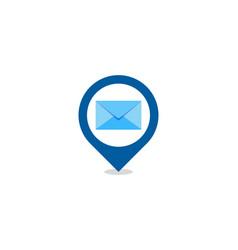 pin mail logo icon design vector image