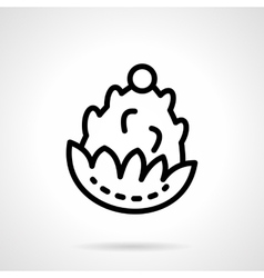 Pine cone black line icon vector
