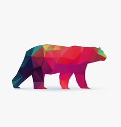 polar bear polygon silhouette vector image
