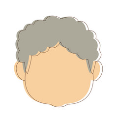 Portrait grandfather man family person vector